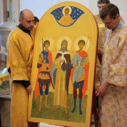 Освящение иконы Илии